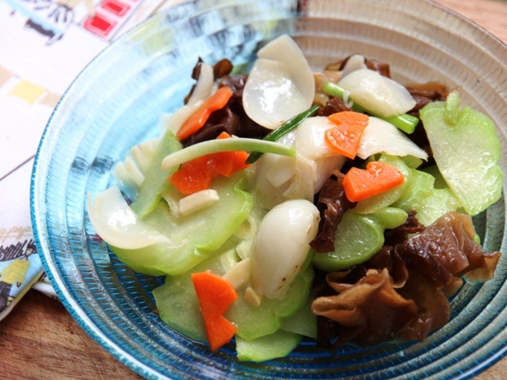 合掌瓜炒鲜营养百合家常菜有哪些图片